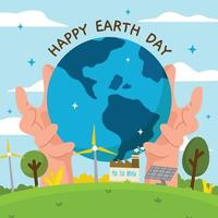 Flat Earth Day Background Concept vector