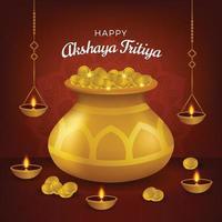 feliz akshaya tritiya concepto vector