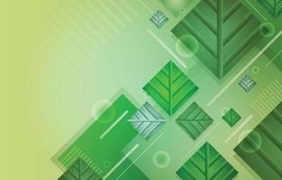 Modern Organic Green Rectangle Shape vector