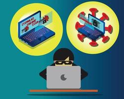 Scam Fraud and Ransomware vector