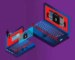 estafa fraude noticias falsas ransomware vector