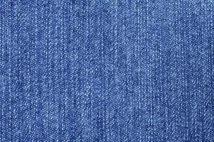 Close-up dark blue jeans texture photo