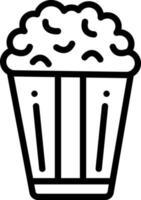 icono de línea para palomitas de maíz vector