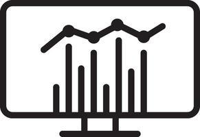 icono de línea para estadísticas vector