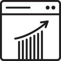 icono de línea para análisis vector