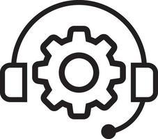 icono de línea de apoyo vector