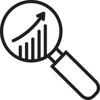 icono de línea para el mercado vector
