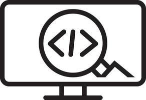 icono de línea para código vector
