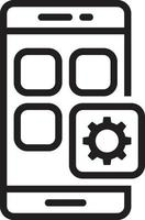 icono de línea para móvil vector