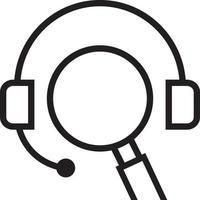 icono de línea para seo vector