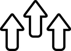 icono de línea para flecha vector