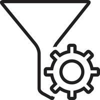 icono de línea para filtro vector