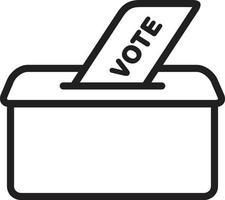 icono de línea para votar vector
