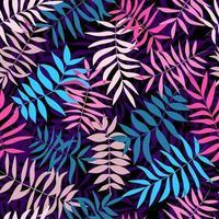hojas tropicales brillantes. patrón sin costuras para tela, papel de regalo y web. vector