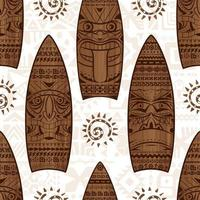 Wood surfing boards and signs vector seamless pattern. Summer seamless pattern. Print for fabric design.