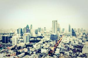 fondo borroso de la ciudad de bangkok foto