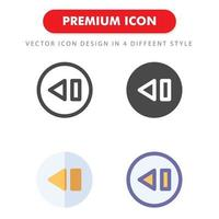 previous icon pack isolated on white background. for your web site design, logo, app, UI. Vector graphics illustration and editable stroke. EPS 10.