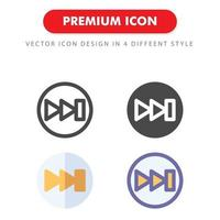 forward icon pack isolated on white background. for your web site design, logo, app, UI. Vector graphics illustration and editable stroke. EPS 10.