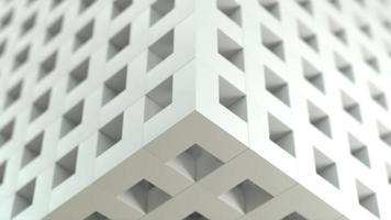 ampliação e retração da caixa de malha branca com profundidade de campo e foco no canto