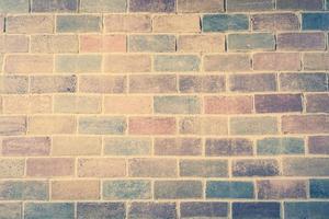 Fondo de pared de ladrillo vintage antiguo foto