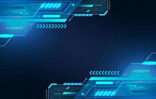 Futuristic Digital Technology Blue Background vector