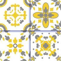azulejos portugueses patrón de piso de baldosas vector