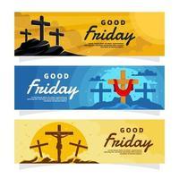 Good Friday Banner Template vector