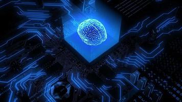Cerveau de rendu 3D du matériel d'intelligence artificielle video