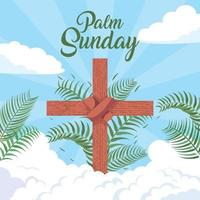 Palm Sunday in Flat Design vector