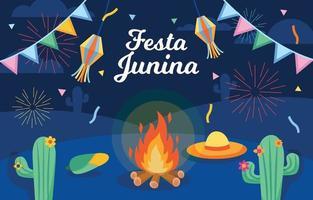 fondo de celebración de festa junina vector