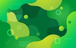 Fluid Green Background vector