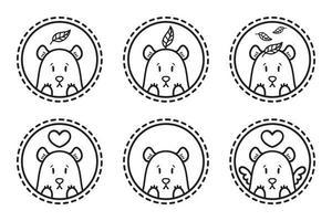 conjunto de emblemas de oso, iconos, etiquetas. vector