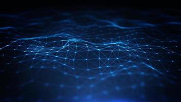 loop de fundo abstrato de tecnologia digital plexus