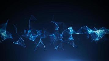 bucle de fondo de tecnología digital de plexo abstracto video