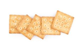 Square crackers isolated on a white background