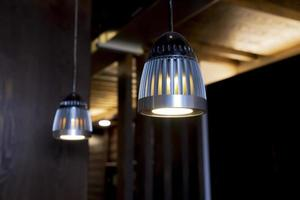 Industrial ceiling lights photo
