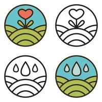 Round eco logo. vector