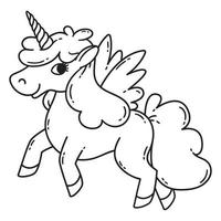 Unicorn with wings. vector