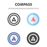 compass icon. for your web site design, logo, app, UI. Vector graphics illustration and editable stroke. EPS 10.