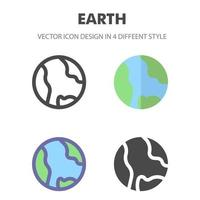 earth icon. for your web site design, logo, app, UI. Vector graphics illustration and editable stroke. EPS 10.