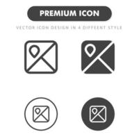 map icon isolated on white background. for your web site design, logo, app, UI. Vector graphics illustration and editable stroke. EPS 10.