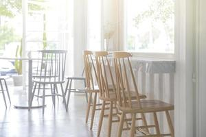 Interior of an empty cafe photo