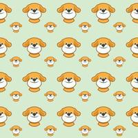 Seamless pattern with cute dogs. Vector illustration with funny puppies. Background for fabric, textile design, wrapping paper or wallpaper.