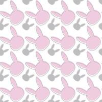 Seamless pattern with cute cartoon bunny. Baby pattern. vector