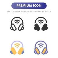 headphone icon isolated on white background. for your web site design, logo, app, UI. Vector graphics illustration and editable stroke. EPS 10.