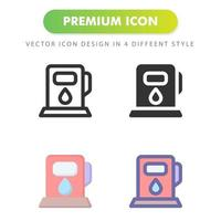 gas station icon isolated on white background. for your web site design, logo, app, UI. Vector graphics illustration and editable stroke. EPS 10.