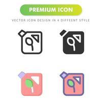 icono de gasolina aislado sobre fondo blanco. para el diseño de su sitio web, logotipo, aplicación, interfaz de usuario. Ilustración de gráficos vectoriales y trazo editable. eps 10. vector