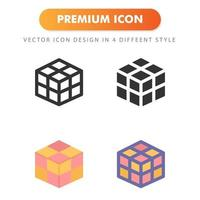 Magic cube icon isolated on white background. for your web site design, logo, app, UI. Vector graphics illustration and editable stroke. EPS 10.