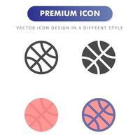 icono de baloncesto aislado sobre fondo blanco. para el diseño de su sitio web, logotipo, aplicación, interfaz de usuario. Ilustración de gráficos vectoriales y trazo editable. eps 10. vector