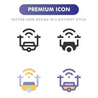 drone icon isolated on white background. for your web site design, logo, app, UI. Vector graphics illustration and editable stroke. EPS 10.